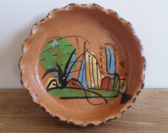 Vintage Mexican Red Clay Dish