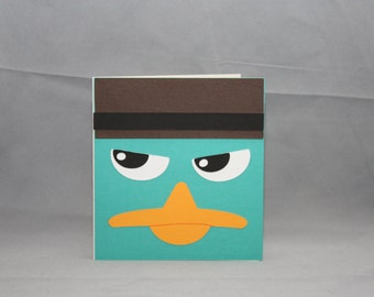 Greeting Dude: Perry The Platypus - Card BLOWOUT