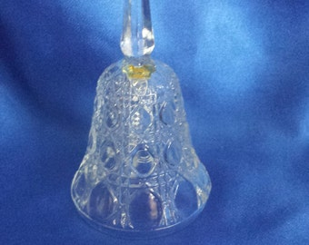 Clear Pressed Glass Bell