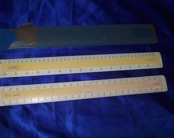 2 Vintage Engineering/Architect Drafting Scales