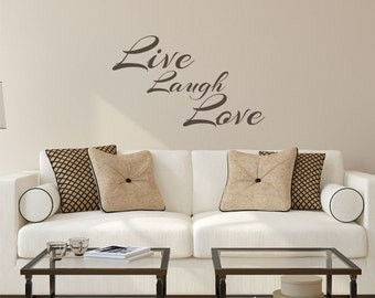 Awesome Live Laugh Love Wall Decal Sticker Part 28