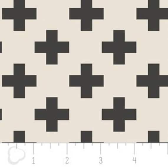 Crib Sheet >> Nordic Cross in Carbon >> MADE-to-ORDER black white baby bedding, swiss cross toddler sheet set, plus bassinet, grey mini crib
