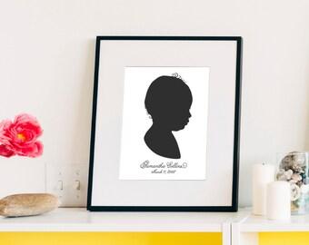 Custom Silhouette {8x10 Art Print} (or digital files)