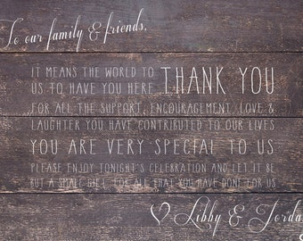 Thank You Sign - Canvas Print (Timber)