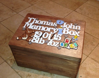 Personalised Wooden Memory Boxes