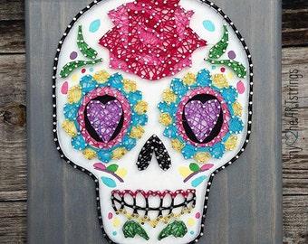 Sugar skull string art