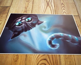 Cheshire cat from Alice in Wonderland fantasy fanart photo print