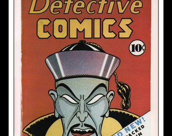 "Vintage Print Ad Comic Book Cover : Batman Detective Comics #1 March 1937 Illustration Wall Art Decor 8.5"" x 11"""