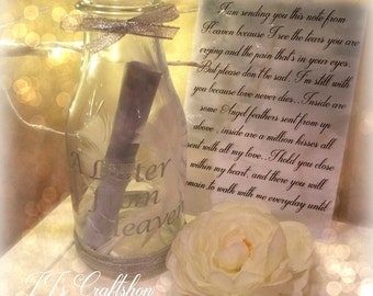 A letter from Heaven, In loving memory of a lost one, Loss of a parent, Grandparent, Personalized/ Keepsake