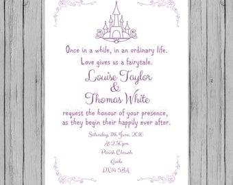 fairytale wedding invitations  etsy, invitation samples