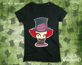 T_Shirt The Mad Hatter Alice in Wonderland