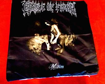 Cradle of filth Midian satanic black metal throw pillowcase