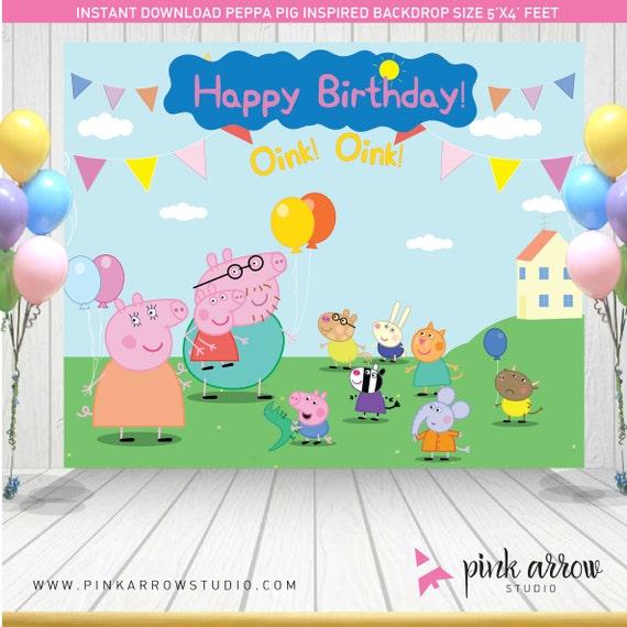Peppa Pig Birthday Peppa Pig Backdrop Peppa Pig Banner