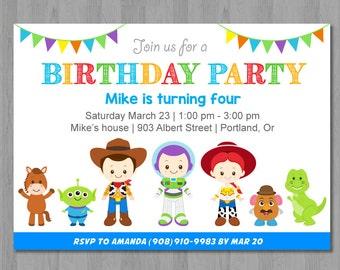Toy Story Birthday Invitation, Toy Story Invitation, Toy Story Invite, Toy Story Birthday Invite
