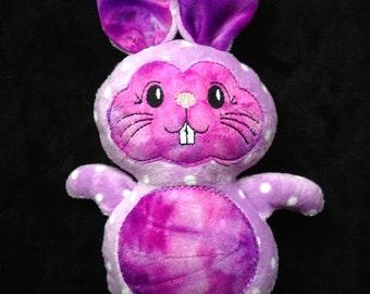 Purple Bunny Soft Minky Cuddly plushie, stuffie, plush, plush animal, stuffed animal
