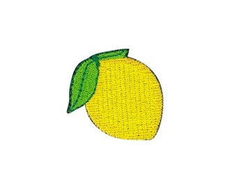Lemon Emoji Embroidered Iron On Patch - FREE SHIPPING