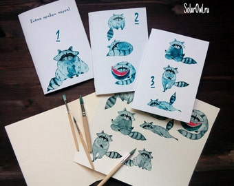 sketchbook raccoon \notebook\journal\Journal Set\Pocket Journals, Mini Notebooks