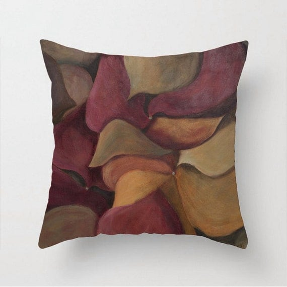 Large Soft Decorative Pillows : Red and gold pillow Soft accent pillow Decorative accent Couch