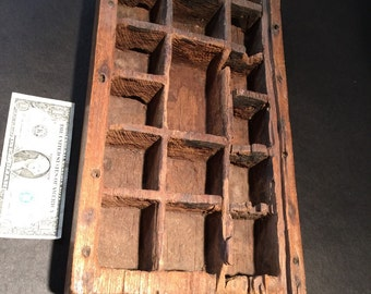 Old wooden Betel nut tray with handle