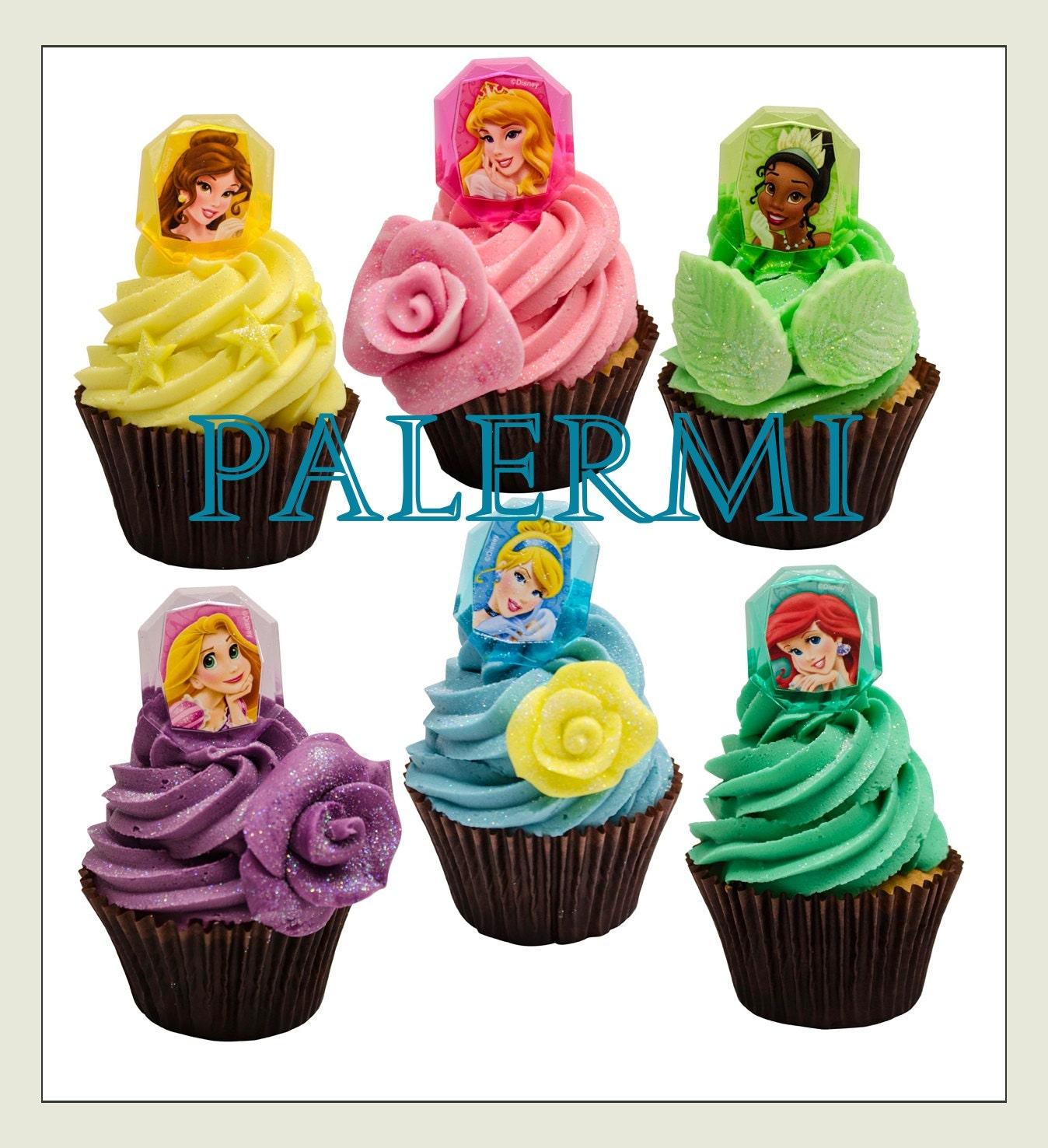 disney princess cupcake toppers princess cupcake rings