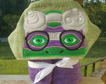 Ninja Turtles Donnie(Donatello) Hooded Towel with FREE EMBROIDERED NAME