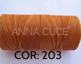 COR:  203 Choose from 10 - 20 m waxed thread LINHASITA thick, wire 1 mm for macramé, materials.