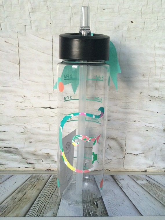 Lilly Pulitzer Inspried Water Bottle With Water Times Water