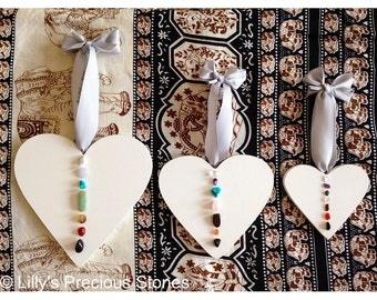 Chakra Healing Hanging Hearts