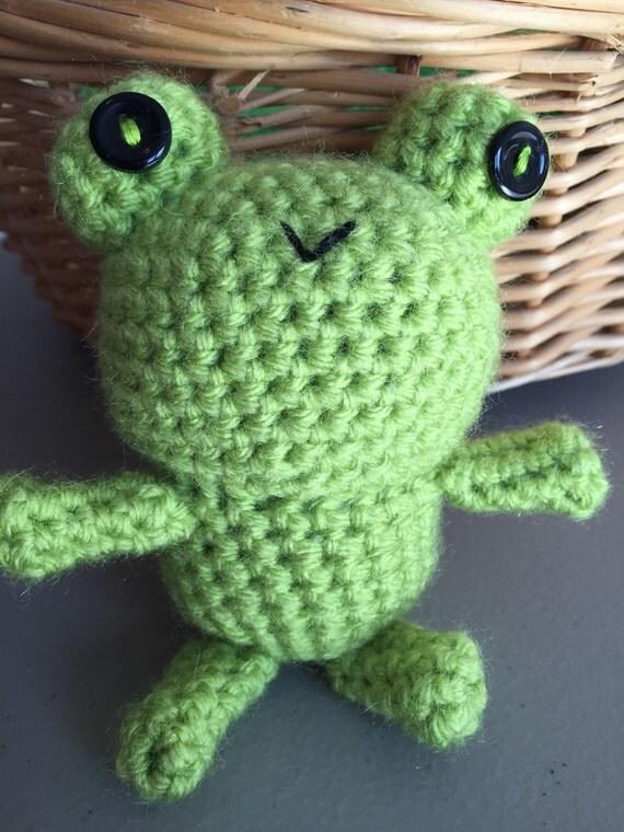 Amigurumi Green Frog : Green frog amigurumi crocheted frog stuffed frog