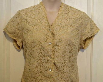 Vintage Janet Colton London Lace Top - Size 44