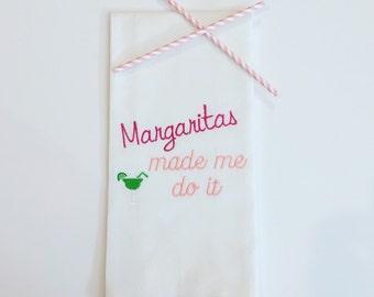 Margaritas Made Me Do It Dish Towel-Kitchen-Bar Cart-Cinco de Mayo-Party