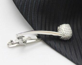 Tobacco pipe, Tie Clip, Hero Accessories, Silver Accessories, Novelty Accessories, Gift For Man