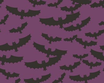 Lost & Found Halloween by Riley Blake - Main Purple - Cotton Woven Fabric