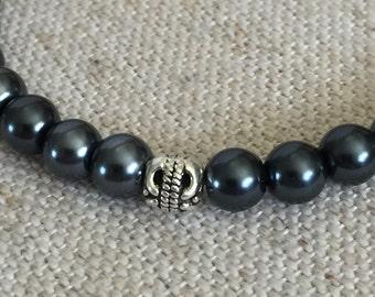 Darkened Beaded Bracelet