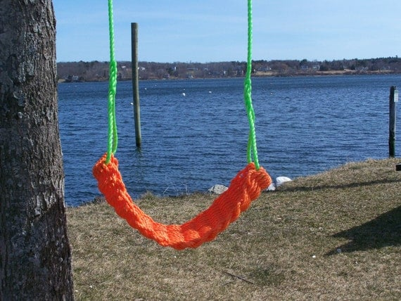 Uniquehandmade lobster rope swingsfree shipping by for Unique swings for kids