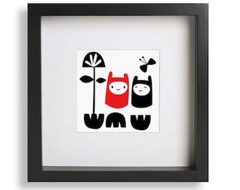 Framed Pip & Doodle Friends Print