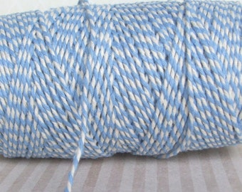 Sky Blue And White Bakers Twine - 10, 20 Yards