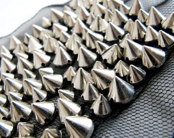 Silver Patch/ Studded Patch/Diamond Applique /Studs Accessory/ DIY Craft /Embellishment/ Sew On