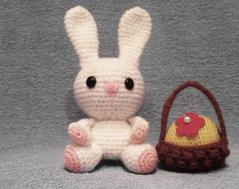 Knit Bunny Rabbit Toy Children Toy Knit Toy cheerful Bunny Rabbit gift baby
