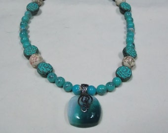 One of a kind, designed Necklace w/ Antique beads