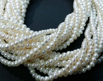4.00 To 4.50 MM Natural Fresh Water Pearl Potato Shape