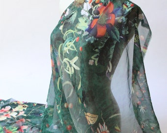 Vibrant fabric from an Haute Couture house