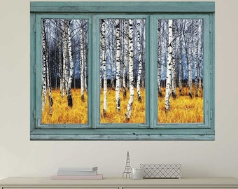 Aspen wall mural etsy for Aspen wall mural