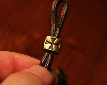 Paracord antiq gold cross beads 1Lot/20pcs
