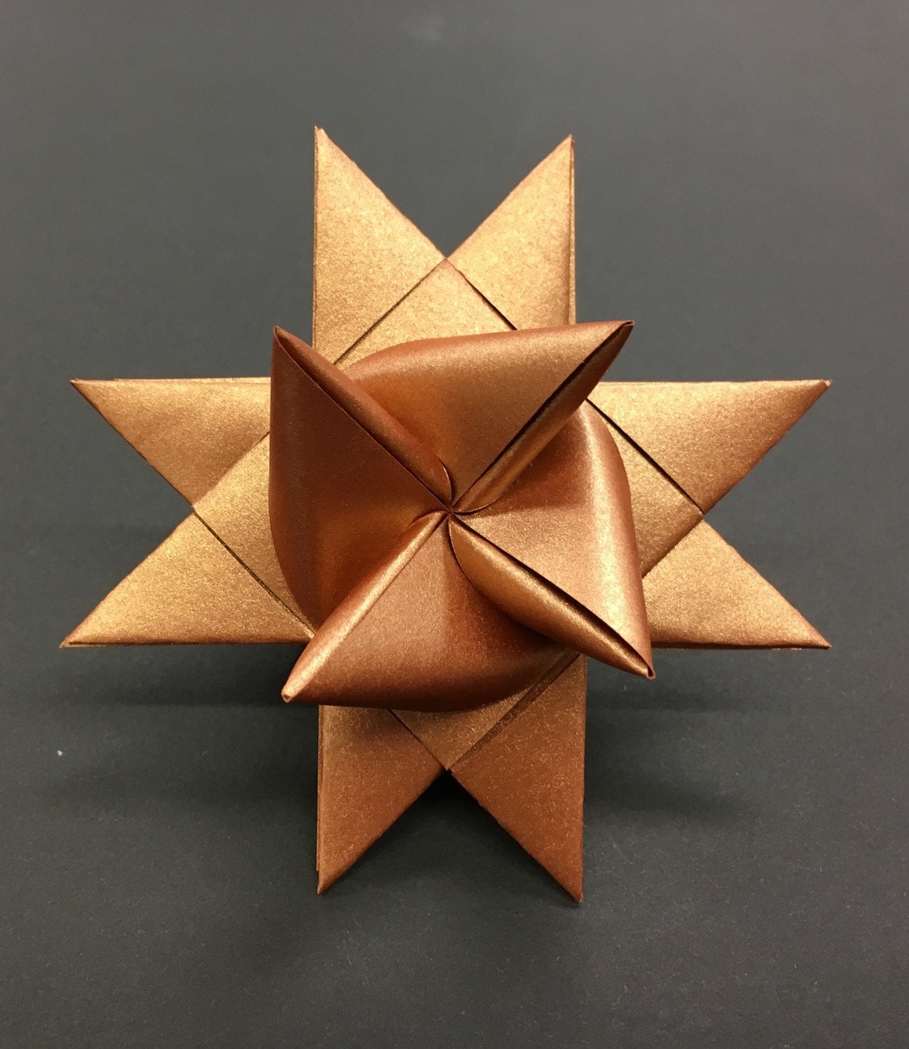 Copper large german paper stars moravian star froebelstern for How to make a big paper star
