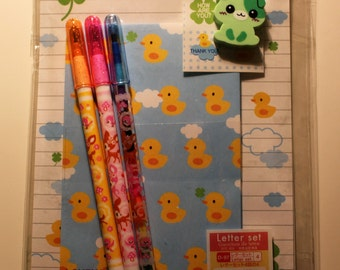 Cute Duck Stationary Gift Set