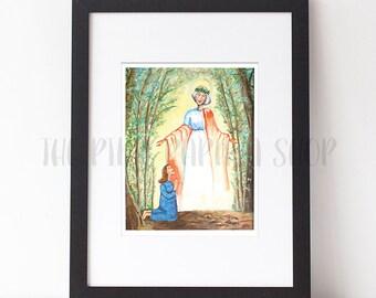 Heavenly Mother | 8x10 inch digital print