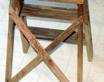 Rustic Wooden Step Stool Great For Plants & So Much More
