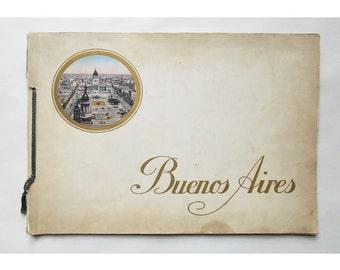 Vintage 1920's Folio Featuring Buenos Aires
