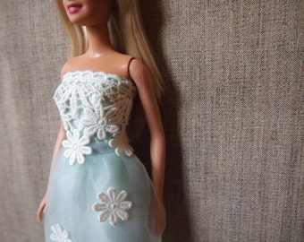 Light blue lace Dress/ Barbie Dress/ Barbie clothe